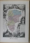 """Photo 3 : V. LEVASSEUR - """"  Atlas national illustré des 89 département de la France, divisé par arrondissements et en commune """" - Paris - 1869"""