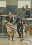 Photo 4 : « L'INVASION 1870 » AQUARELLE ORIGINALE PAR MARCHETTI.