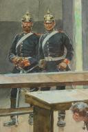 Photo 7 : « L'INVASION 1870 » AQUARELLE ORIGINALE PAR MARCHETTI.