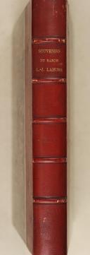 LAHURE. (L. J.).Souvenirs de la vie militaire du Lt. Général L.J. Lahure. 1787-1815. (1)