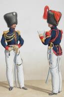1830. Garde Royale. Régiment d'Artillerie. Lieutenant en Second, Maréchel des Logis-Fourrier. (2)