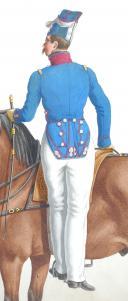 Photo 2 : 1830. Carabiniers . Capitaine-Instructeur (1er Régiment).