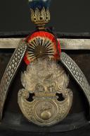 Photo 4 : SHAKO D'OFFICIER DE GRENADIERS DE LA GARDE NATIONALE, modèle 1830, Monarchie de Juillet.