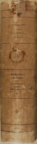 """PELLET - """" Mémoires Militaires relatifs à la Sucession d'Espagne sous Louis XIV """" - 1 Tomes - Paris - 1811 (5)"""