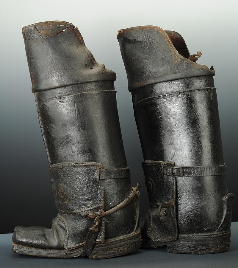 Leather Half Boots  Letters