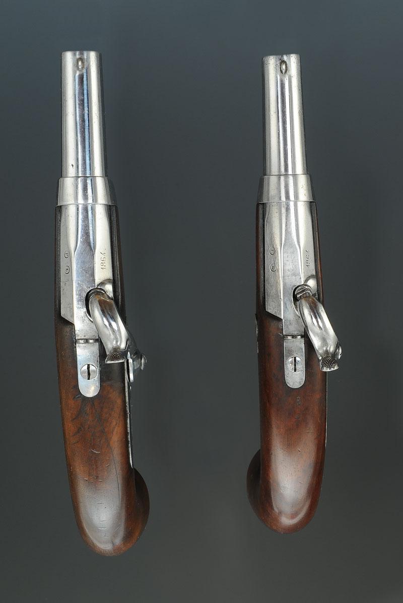 paire de pistolets d u0026 39 officier de gendarmerie  mod u00c8le 1836