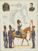 """L'ARMÉE FRANÇAISE Planche N° 32 : """"MARINS DE LA GARDE - 1803-1815 (II)"""" par Lucien ROUSSELOT. La fiche explicative de cette planche est groupée avec la n° 31. (1)"""