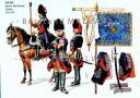 RIGO (ALBERT RIGONDAUD) : LE PLUMET PLANCHE AR30 : CAVALERIE REGIMENT ROYAL-ALLEMAND ETENDARDS 1734 ET 1748.