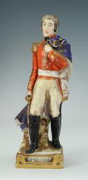 CAMBRONNE, MARÉCHAL D'EMPIRE, FIGURINE EN PORCELAINE DE COURILLE À PARIS, 20ème SIÈCLE. (1)