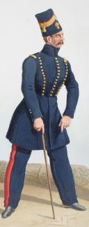 1830. Garde Royale. Régiment d'Artillerie. Officier, Maréchal des Logis-Chef. (2)