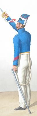 Photo 2 : 1830. Carabiniers. Carabinier, Brigadier (1er Régiment).