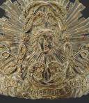 PLAQUE FRONTALE POUR CASQUE DES GARDES-DU-CORPS DE LA MAISON MILITAIRE DU ROI, MODÈLE 1814, RESTAURATION. (2)