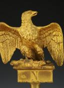 Photo 2 : AIGLE DE DRAPEAU DE LA GARDE NATIONALE, MODÈLE JUILLET 1852, SECOND EMPIRE.