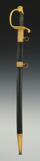 Photo 2 : SABRE D'OFFICIER D'INFANTERIE, modèle 1845, Seconde République.