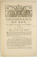 Photo 1 : ORDONNANCE DU ROY, pour augmenter d'un bataillon le régiment d'Infanterie d'Anjou. Du 25 août 1745. 3 pages