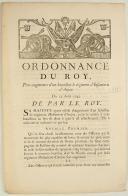 ORDONNANCE DU ROY, pour augmenter d'un bataillon le régiment d'Infanterie d'Anjou. Du 25 août 1745. 3 pages (1)