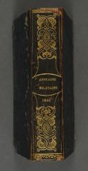 Photo 1 : ANNUAIRE MILITAIRE de France pour l'année 1841.