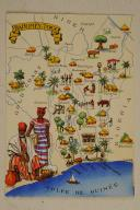 Carte postale mise en couleurs représentant la région du «DAHOMEY-TOGO».