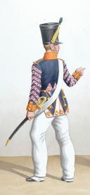 Photo 2 : 1816.Légions Départentales. Tambour de chasseurs (55e Légion - du Morbihan), Caporal de Fusiliers (83e Légion- de la Vienne)