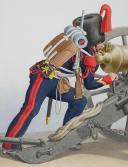 1830. Garde Royale. Régiment d'Artillerie.Brigadier, Batterie Montée, Canonnier. (2)