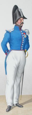 Photo 2 : 1830. Carabiniers. Chef d'Escadron, Adjudant-Major (2e Régiment).