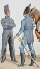 Photo 2 : 1817. Vétérinaires Maréchaux des Logis. Artillerie, Hussard (4e Régiment - du Nord).