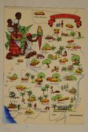 Carte postale mise en couleurs représentant la région du «MOYEN CONGO».