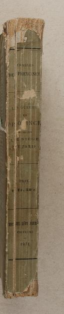 FREYCINET. La guerre en province pendant le siège de Paris.   (2)