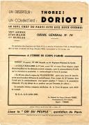 DOCUMENT DE PROPAGANDE DU PARTI DE JACQUES DORIOT, Seconde Guerre Mondiale.