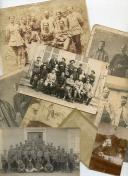 ENSEMBLE DE 9 PHOTOGRAPHIES DE SOLDATS DE LA PREMIÈRE GUERRE MONDIALE.