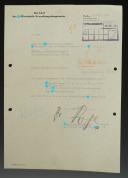 LETTRE AUTOGRAPHE DU GÉNÉRAL SS OSWALD POHL RESPONSABLE DE L'ADMINISTRATION DES CAMPS DE CONCENTRATION ET DE L'ADMINISTRATION ÉCONOMIQUE DE LA SS, Seconde Guerre Mondiale.