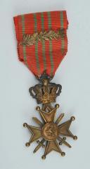 CROIX DE GUERRE BELGE, créée en octobre 1915, Première Guerre Mondiale.
