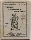 LIVRET DE CHANTS PATRIOTIQUES ET MILITAIRES FRANÇAIS, Seconde Guerre Mondiale.
