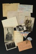 DOCUMENTS, PHOTOGRAPHIES ET INSIGNE DE TROIS FRÈRES ENGAGÉS DANS LES FFI DE LOIRE-INFÉRIEURE, Seconde Guerre Mondiale.