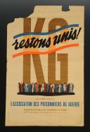 AFFICHE « KG - RESTONS UNIS ! », Seconde Guerre Mondiale.