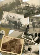 ENSEMBLE DE 9 PHOTOGRAPHIES DE L'AVIATION MILITAIRE FRANÇAISE, Première Guerre Mondiale.