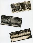ENSEMBLE DE 6 PHOTOGRAPHIES DE PRISONNIERS ALLEMANDS, Première Guerre Mondiale.