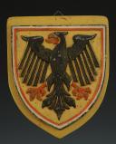 PLAQUE AUX ARMES DU CROISEUR LOURD « DEUTSCHLAND », Kriegsmarine Schiffswappen des Panzerschiff « Deutschland », Seconde Guerre Mondiale.