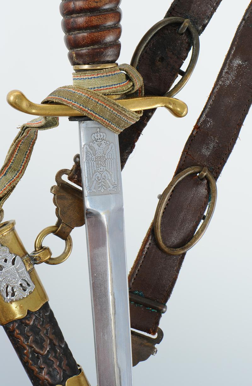 dague d u0026 39 officier de l u0026 39 arm u00c9e de terre yougoslave avec b u00c9li u00c8res et dragonne  mod u00e8le 1939