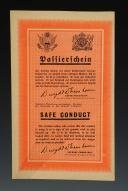 SAUF-CONDUIT ALLIÉ POUR LES TROUPES ALLEMANDES DÉSIRANT SE RENDRE, Seconde Guerre Mondiale.