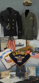 ENSEMBLE DES EFFETS DU PILOTE DE L'AÉRONAVALE AMÉRICAINE J. BREWER DE L'USS-HANCOCK, Seconde Guerre Mondiale.