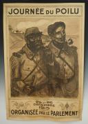 AFFICHE « JOURNÉE DU POILU 25 ET 26 DÉCEMBRE 1915 ORGANISÉE PAR LE PARLEMENT », Première Guerre Mondiale.