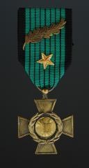 COPIE - CROIX DE GUERRE LÉGIONNAIRE DES VOLONTAIRES FRANÇAIS CONTRE LE BOLCHEVISME DIT « DELANDE », créée en 1942.