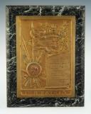 PLAQUETTE SOUVENIR D'UN SOLDAT DU 163ème RÉGIMENT D'INFANTERIE DE NICE TUÉ AU COMBAT EN 1917, Première Guerre Mondiale.