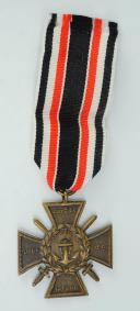 CROIX D'HONNEUR DU CORPS DE LA MARINE DES FLANDRES, Marinekorps Flandern, septembre 1921, Première Guerre Mondiale.