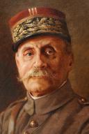 HUILE : PORTRAIT DU MARÉCHAL FOCH, Première Guerre Mondiale.