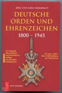 DEUTSCHEN ORDEN UND EHRENZEICHEN 1800 - 1945