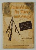 LIVRE D'OCCASION - SOLDATENBLÄTTER FÜR FEIER UND FREIZEIT - 1944.