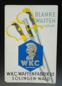 PANNEAU PUBLICITAIRE DE LA MANUFACTURE D'ARMES BLANCHES WEYERSBERG KIRSCHBAUM & Cie À SOLINGEN, Troisième Reich.