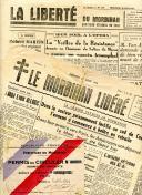 PERMIS DE CIRCULER - JOURNAL DU MORBIHAN LIBÉRÉ, Seconde Guerre Mondiale.